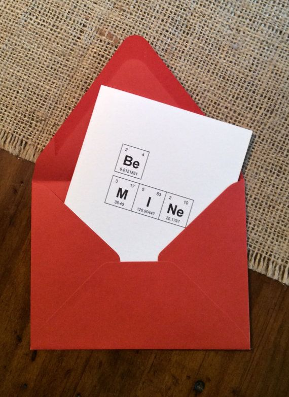 Be Mine Valentine Periodic Table of the Elements Nerdy Valentines