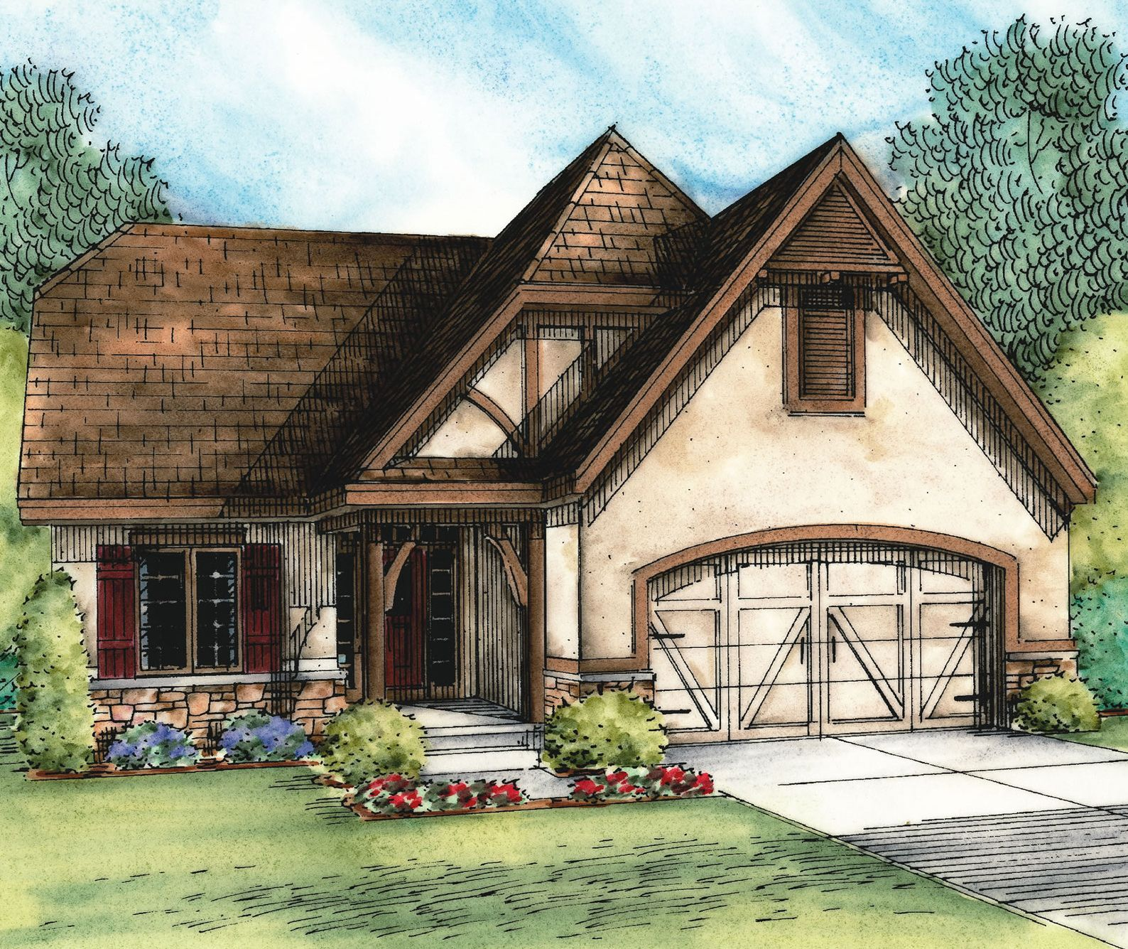Plan 42345db European Cottage With Expansion Possibilities Cottage Floor Plans European House Plans Cottage Plan