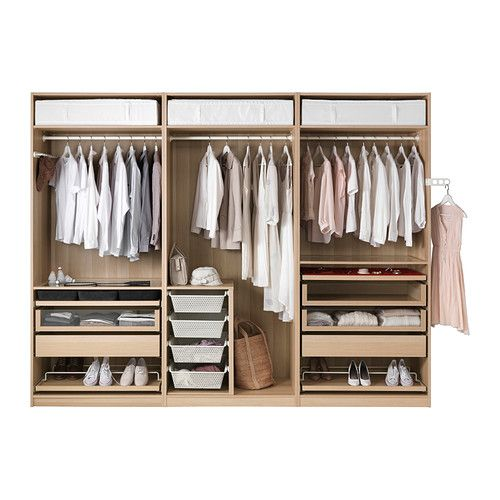 komplement inzet basiselement met vak wit gelazuurd eikeneffect pax wardrobe white stain and. Black Bedroom Furniture Sets. Home Design Ideas