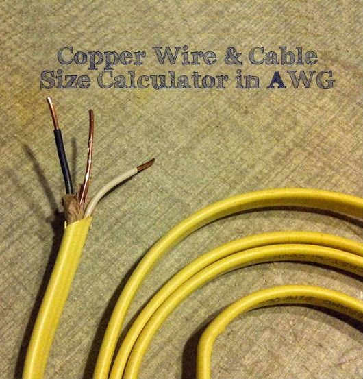Wire Cable Size Calculator In Awg Electrical Technology Electrical Cables Electrical Wiring Cable