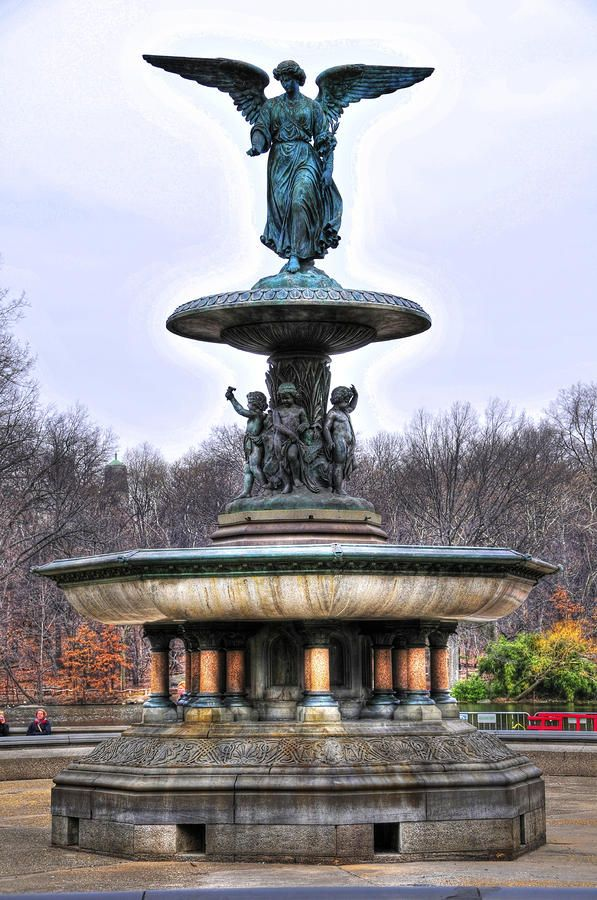 fountain+at+central+park+ny+|+Bethesda+Fountain+In+Central+Park+by+Randy+Aveille