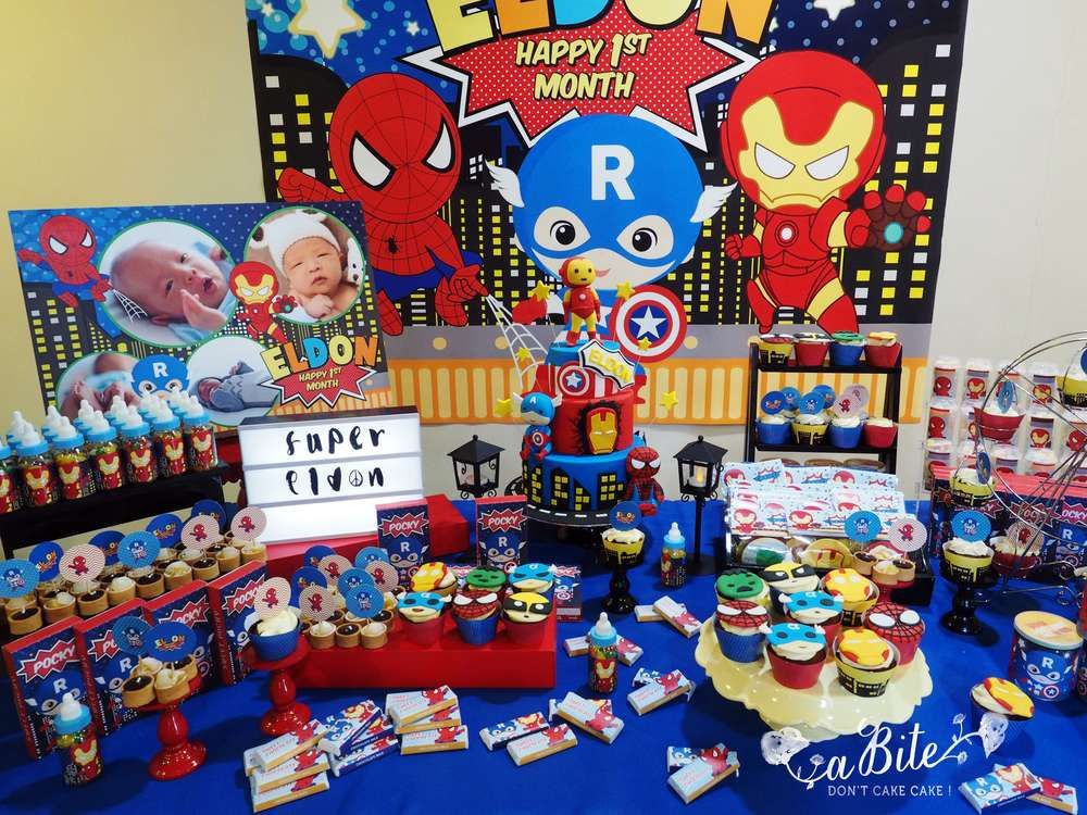 Superheroes Birthday Party Ideas Photo 2 Of 5 Girl
