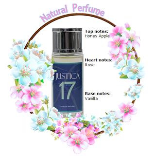 Natural Perfume Justica Sweet 17: Notes Apple Rose Vanilla