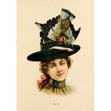 Fine Millinery 1899 Hat 1 Canvas Art - Unknown (18 x 24)  2203ab4780df