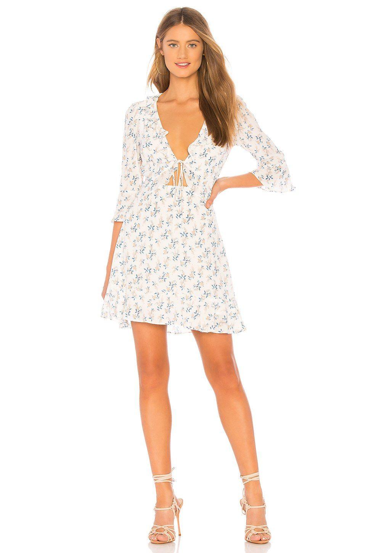 7c2420d098db For Love & Lemons X REVOLVE Tie Front Mini Dress in White Floral | REVOLVE