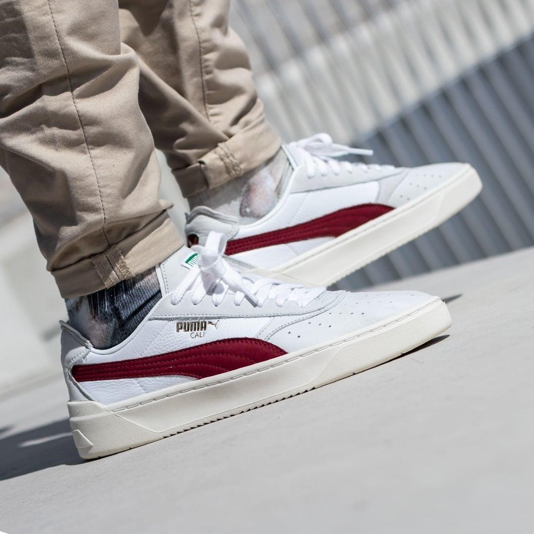 Bijsmaak Bijsmaak Sneaker Boutique Puma Cali O Vintage White Rhubarb Bijsmaak Com In 2020