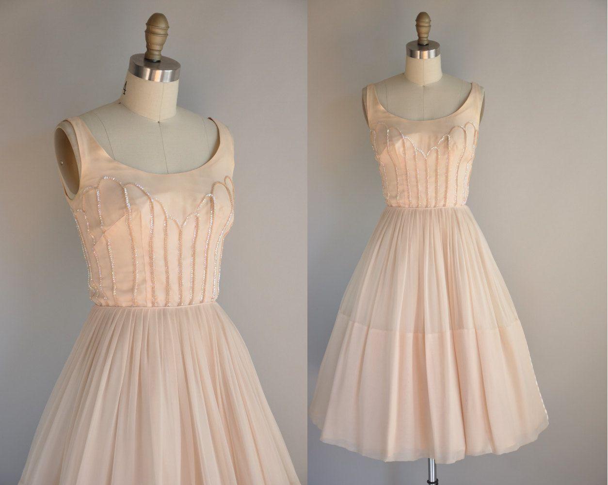 S vintage dress s cocktail dress princess sequin chiffon