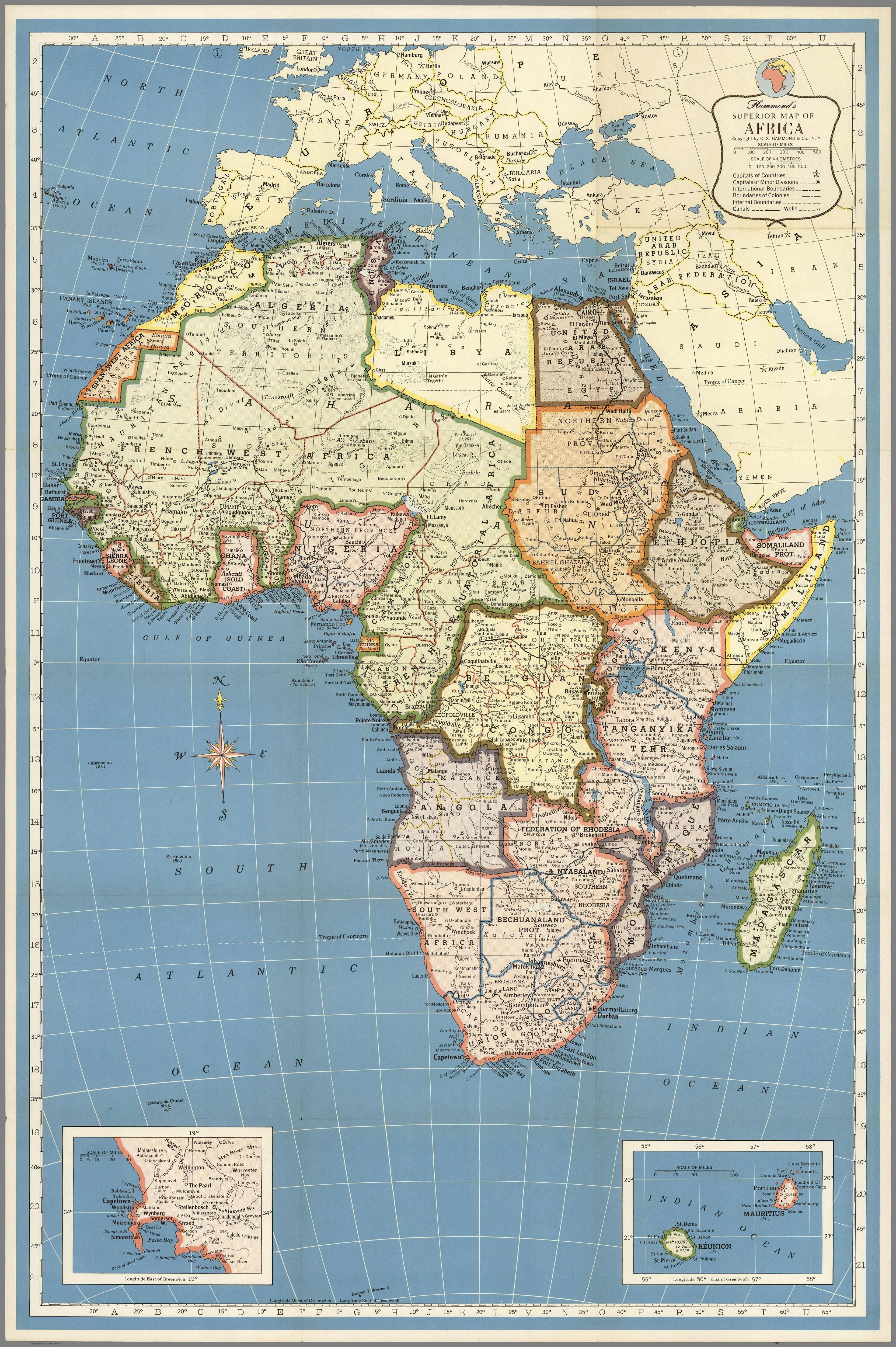 1957 National Geographic Map of Africa | Maps | National
