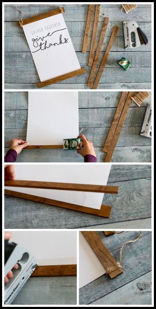 DIY Wood Stick Hanging Frame - Sugar Bee Crafts