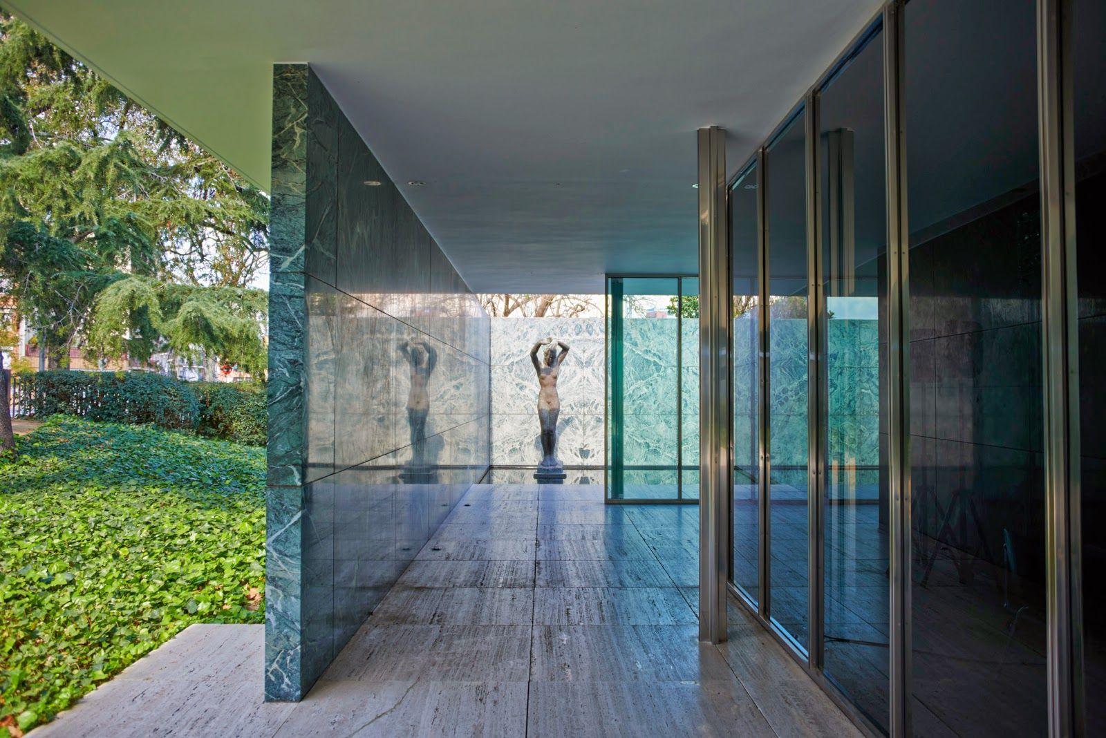 ludwig mies van der rohe / pabellón alemán de barcelona | Arquitectura, Arquitectura de la casa, Arquitectos