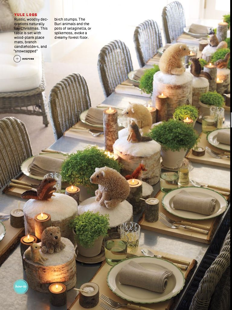 Holiday Table Setting Found In The December 2012 Issue Of Martha