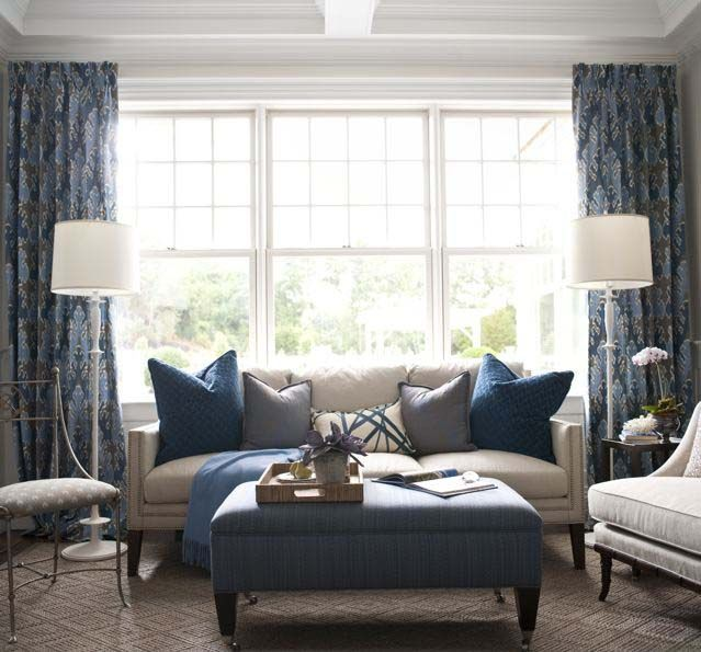 Navy & Nueutral- Hampton Designer Showhouse-Kate Singer designer.  I'd add some yellow :)