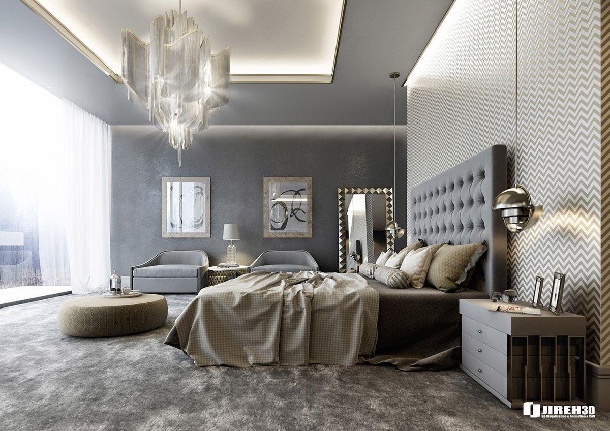 Best Vrayforc4D Scene Files Modern Classic Bedroom Scene On 640 x 480