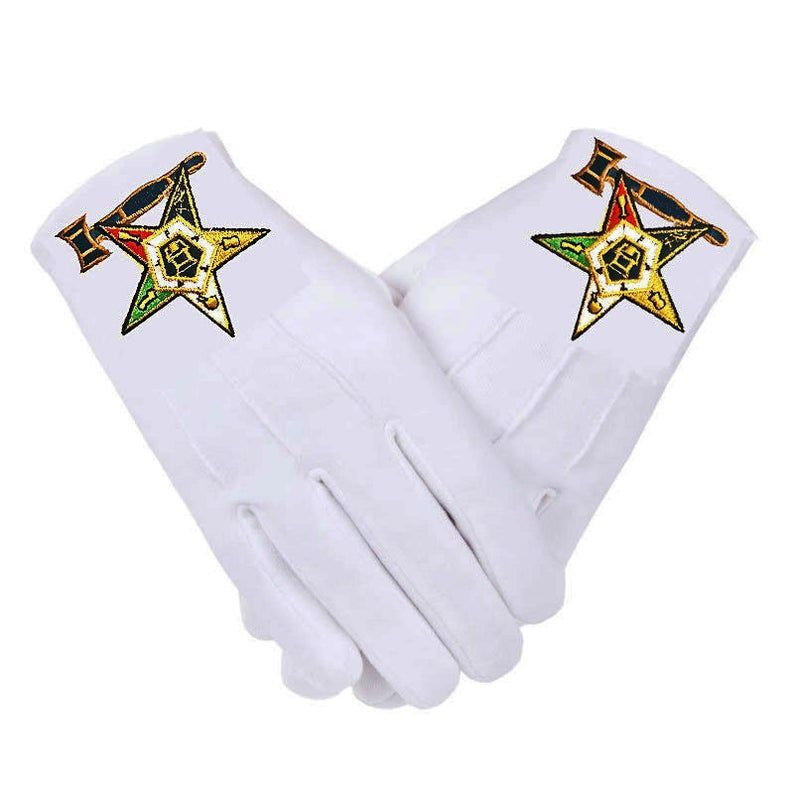 OES PAST MATRON Gloves * Eastern Star Embroidered Logo