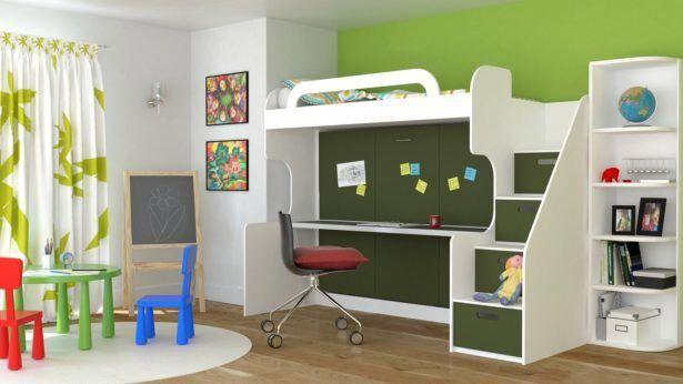Bedroom White Color Kids Bedroom Furniture Wooden Bunk Bed Desk