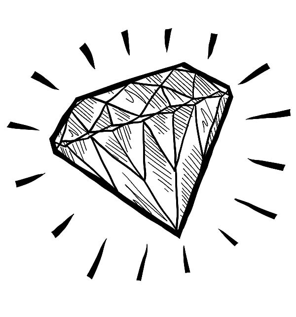 Diamond Shape Sketch Coloring Pages Kids Play Color