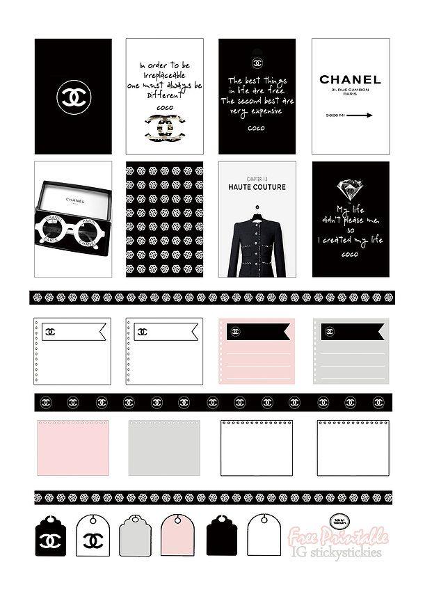 Stickers Chanel | prints | Pinterest | Minimalistas, Pienso y Personas