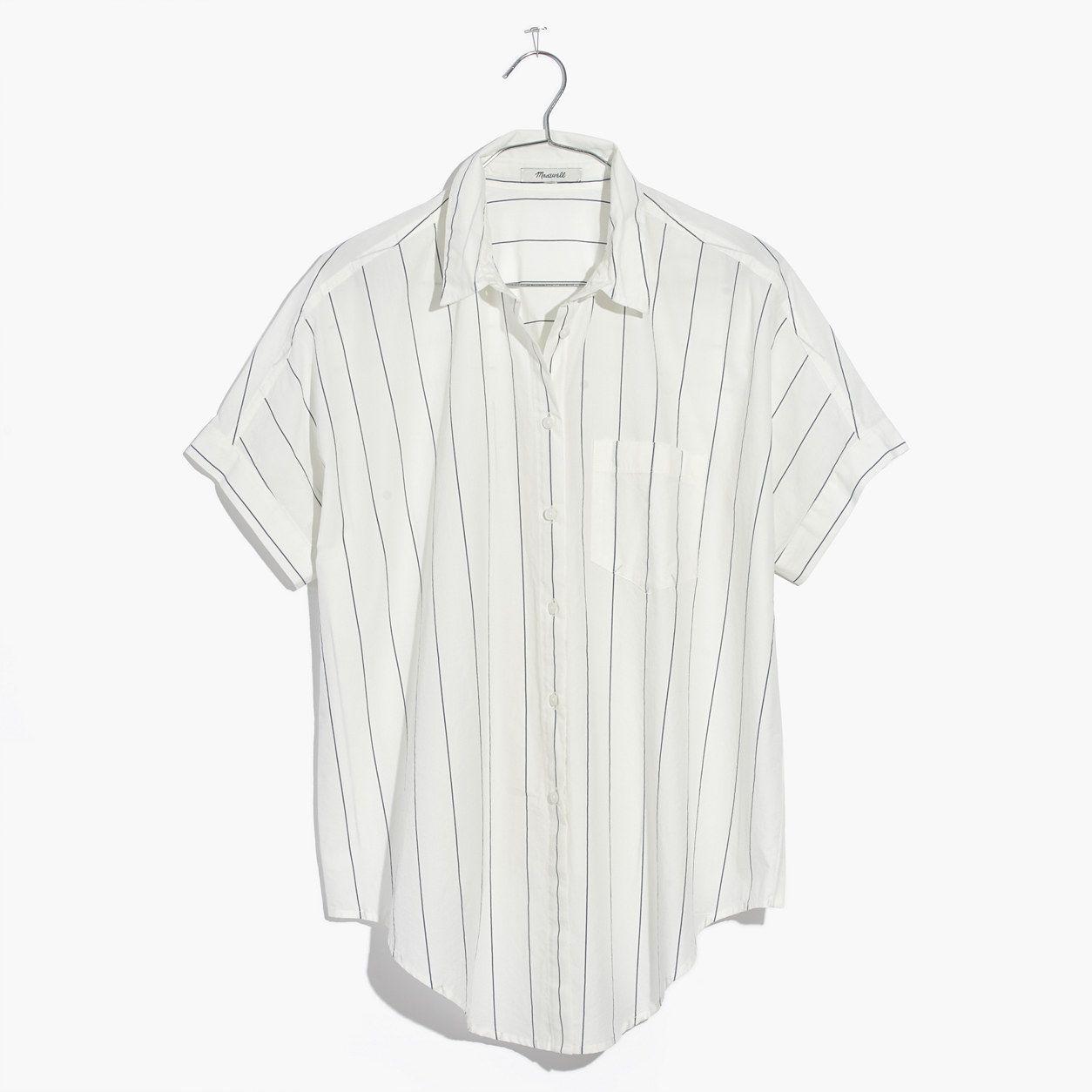 f217f61086 Madewell Short-Sleeve Tie-Front Shirt In Abbi Stripe | *Apparel ...