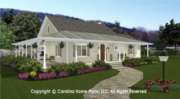 Small Country Cottage House Plan For Downsizing From Carolina Home Plans Cottage House Plans Country Cottage House Plans Small Cottage House Plans