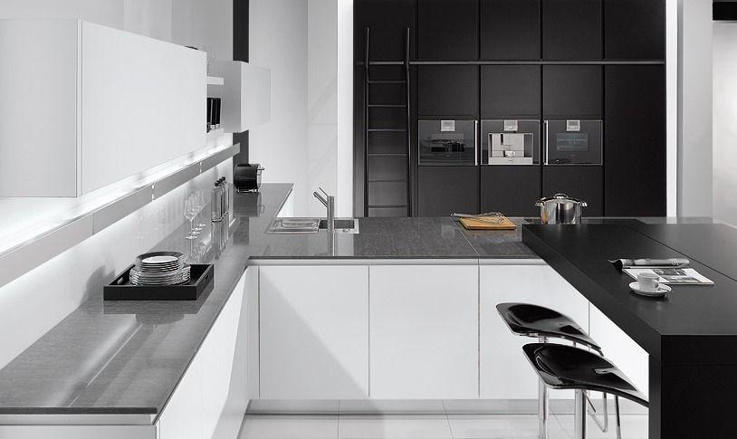 Best Black White Matt Kitchen In A Contemporary 'True 640 x 480