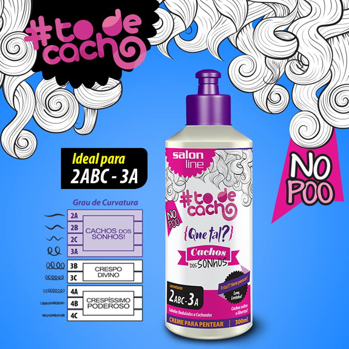 750afcb05 Creme Para Pentear Salon Line Cachos dos Sonhos 300ml | #todecacho ...