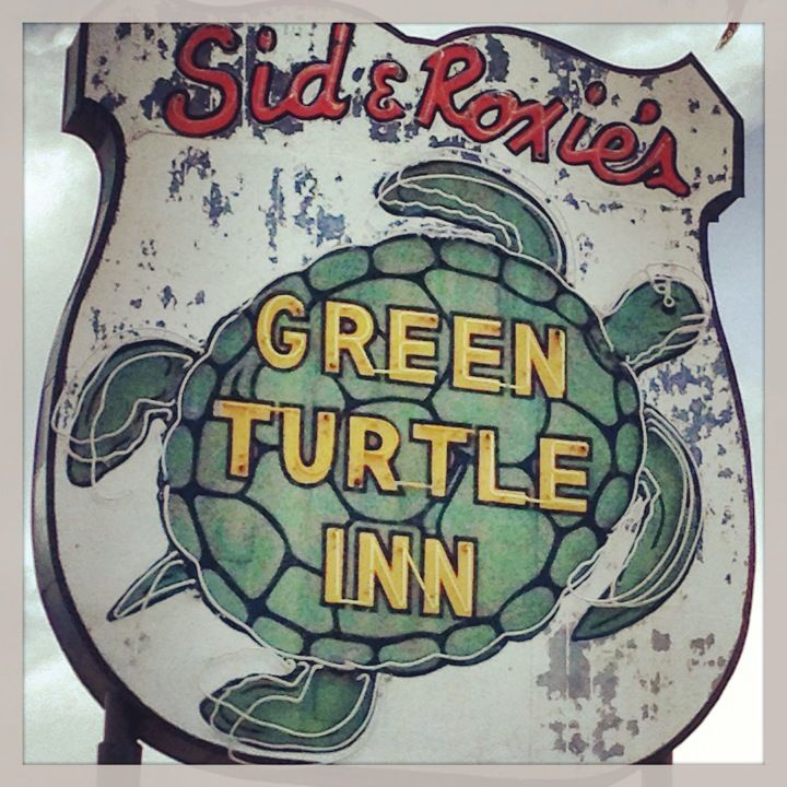 Green Turtle Inn vintage sign