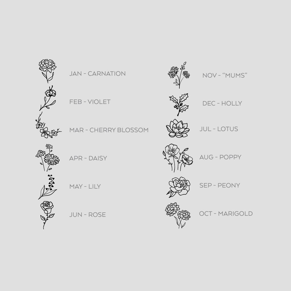 Birth Flowers - Enamel Pin