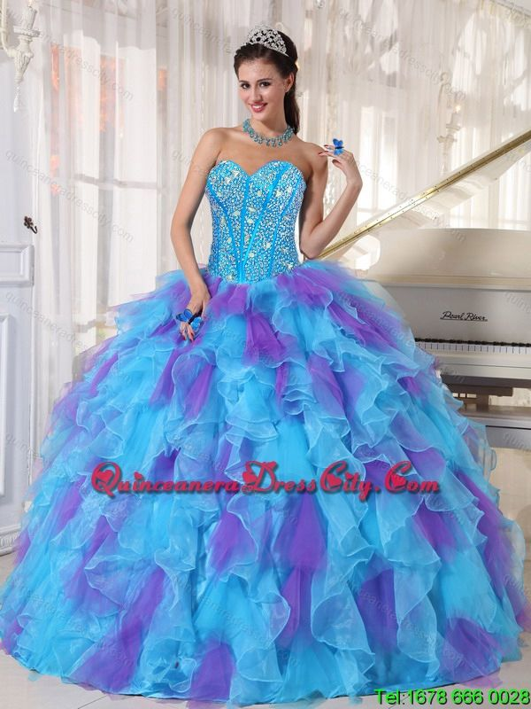 c7d7141addb quinceaneradresscity.com offers cheap 2015 Summer Sweetheart Quinceanera  Dresses with Beading and Ruffles