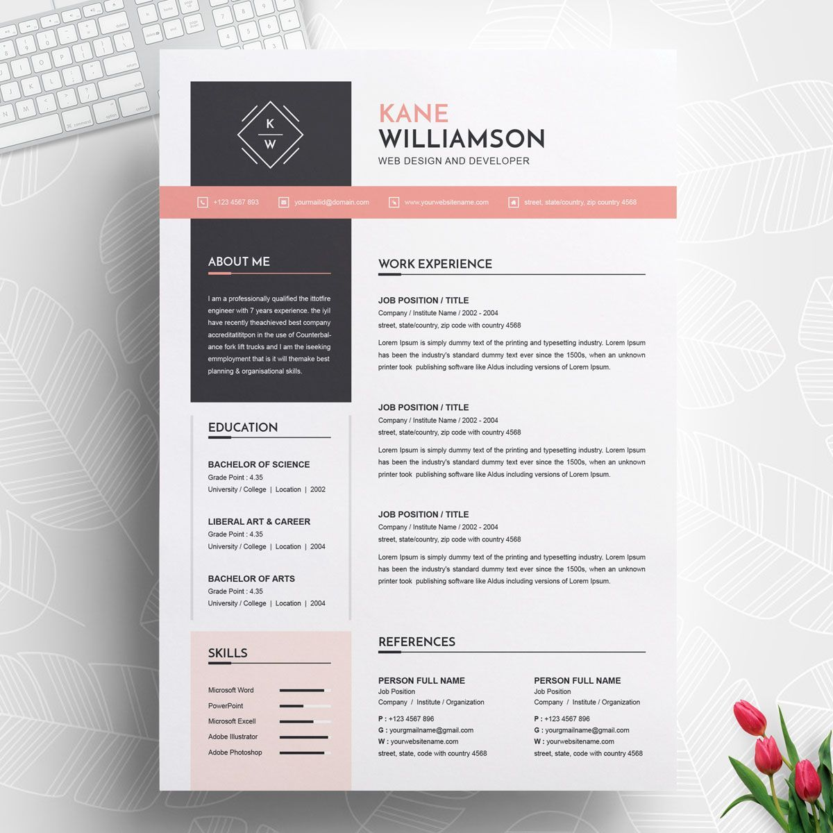 Kane Williamson Resume Template 74143 Cv design