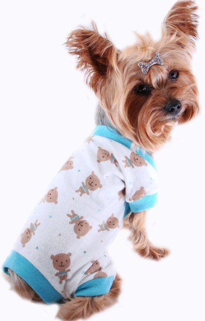 Yorkie Dog Clothes Chihuahua Puppy Apparel Pajama Sleepwear Pjs