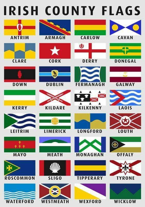 Irish County Flags Counties Of Ireland Irish Irish Counties