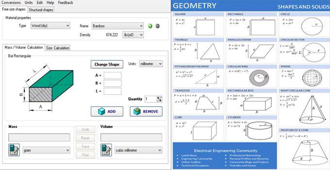 Geometric Calculator is very useful in the field of civil