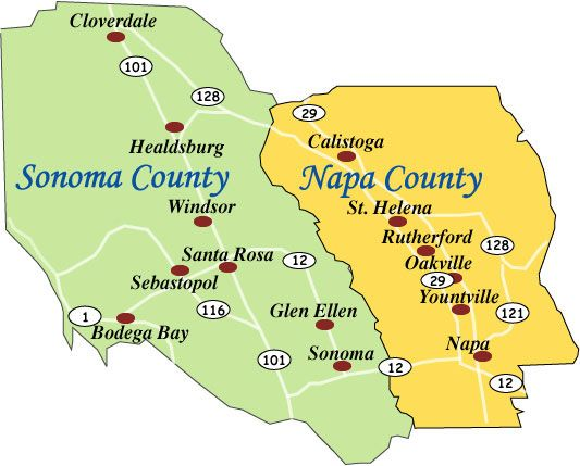 Napa versus Sonoma: understand the differences! Pic: Map of ... on detailed map of nevada county, detailed map of kern county, detailed map of ventura county, detailed map of hillsborough county, detailed map of riverside county, detailed map of stanislaus county, detailed map of fresno county, detailed map of orange county,