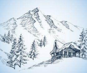 Ausmalbilder Berge #berge #malvorlagen #painting #coloringpagesforkids #kinder #ausmalen #ausmalbild #winterlandscape