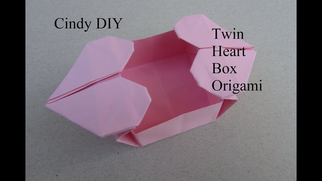 Twin Heart Box Origami Easy Paper Craft For Beginner Cindy Diy