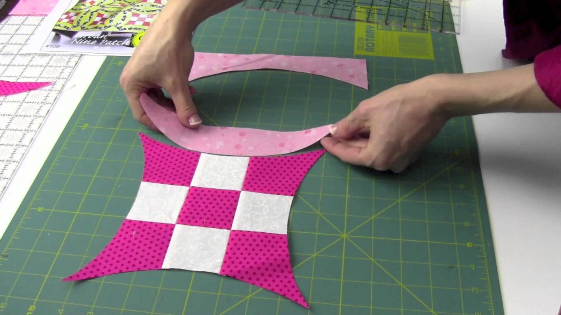 Quick Curve Ruler Cutting, Sewing & Squaring Up Blocks