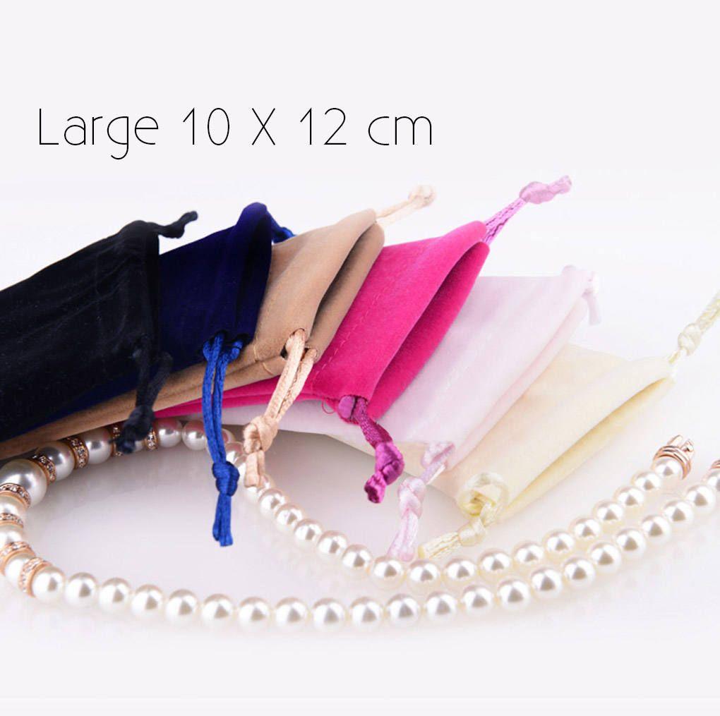 50 (Large) Premium Velvet Drawstring Pouches - Bags for Craft ...