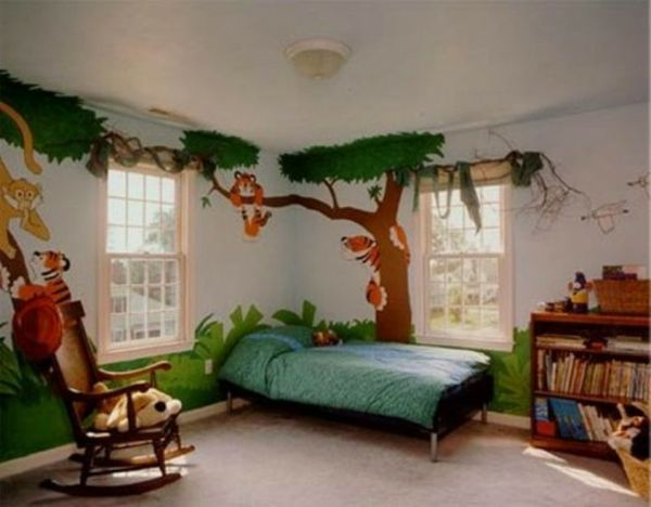 Lustige Dschungel Dekoration Im Kinderzimmer U2013 15 Schöne Beispiele    Wanddekoration Kinderzimmer Dschungel