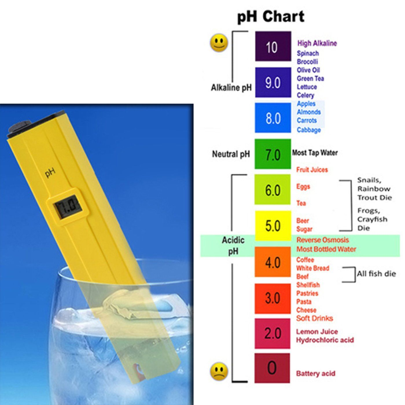 Amazonsmile hde grower 39 s toolbox digital ph meter and for Tropical fish temperature chart