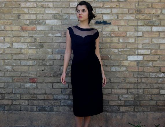 1940s Vintage FRANK STARR Couture Black Cocktail by VukoviVintage, $90.00