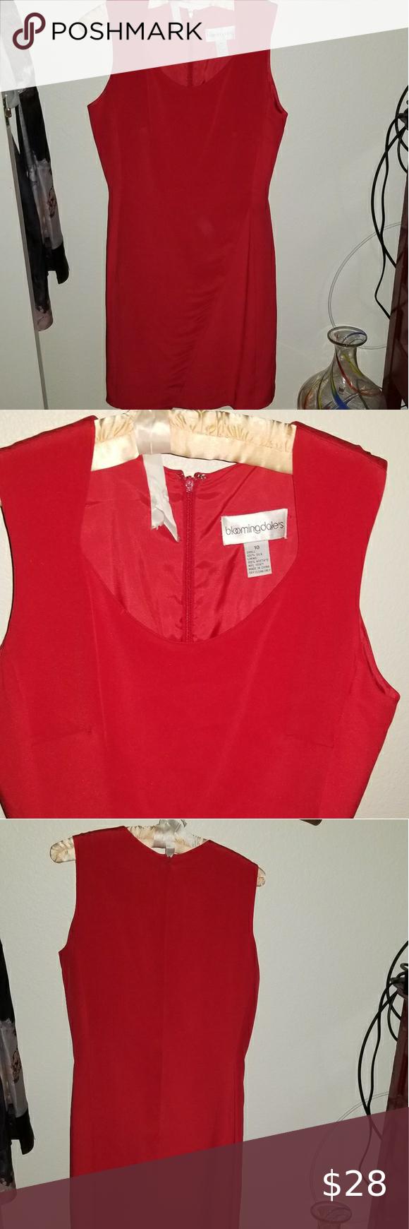 Vintage Bloomingdale S Red Dress Red Dress Bloomingdale Dresses Red Silk Dress [ 1740 x 580 Pixel ]