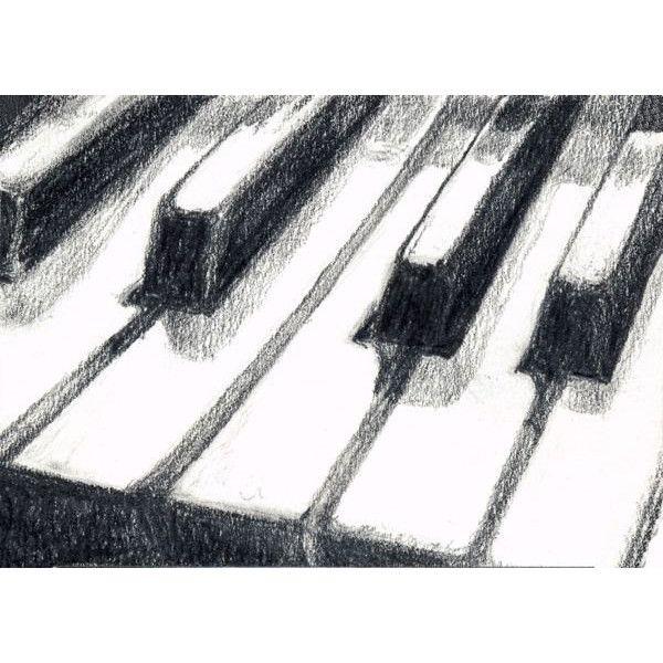 Piano Keyboard Art Print Of Graphite Pencil Drawing Music Drawings Music Doodle Drawing Artwork