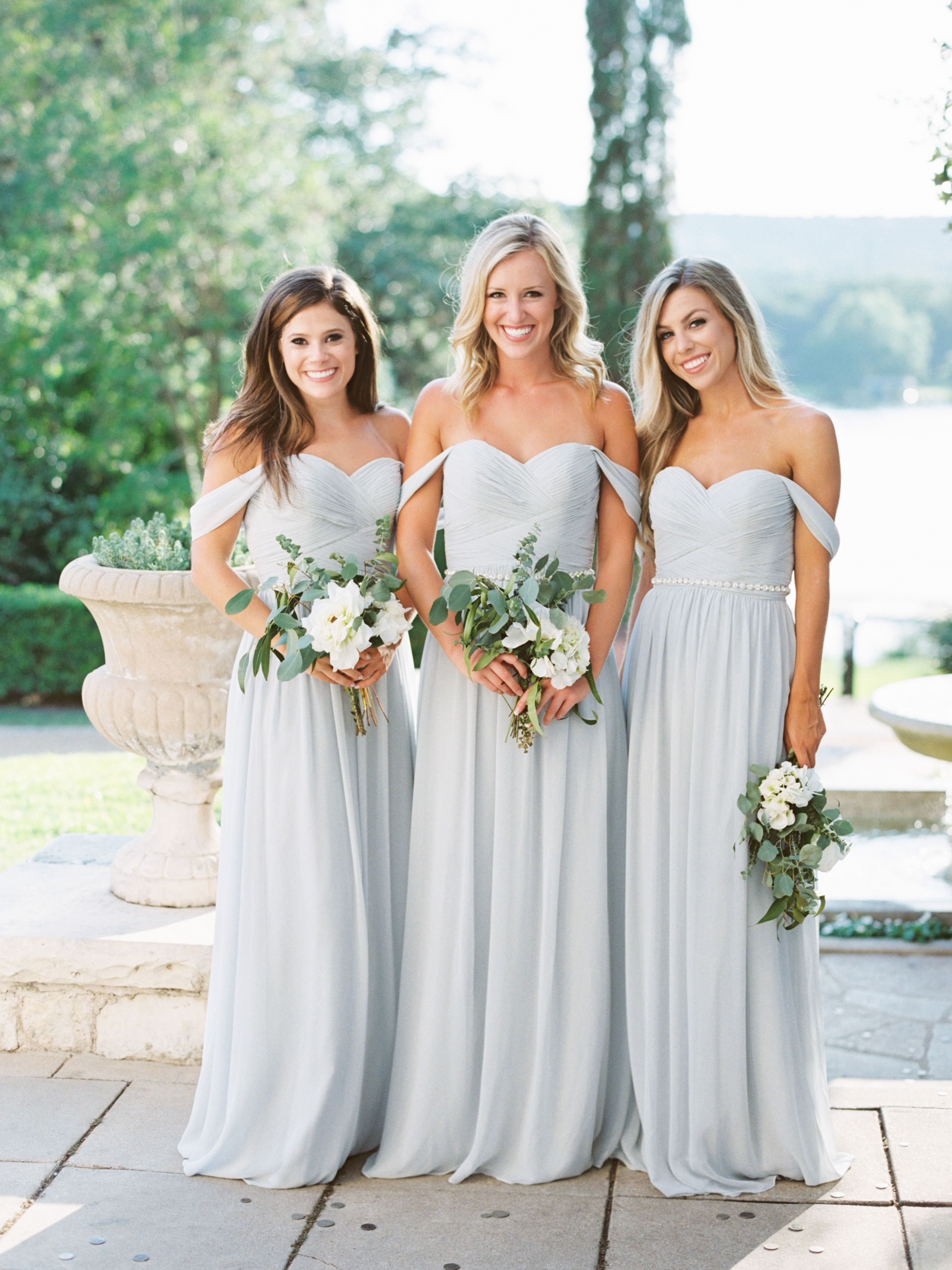 527ef370f9e4e Chiffon Bridesmaid Dresses in Dove Grey From Shop Revelry! It's hard to top  the romantic and adaptable Kennedy convertible. This flowing, A-line  chiffon ...