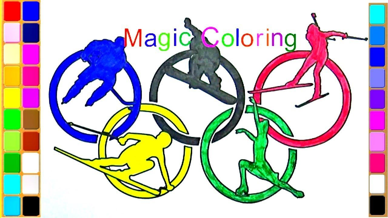 How To Draw The Olympic Rings For Kids Olympic Rings Colouring