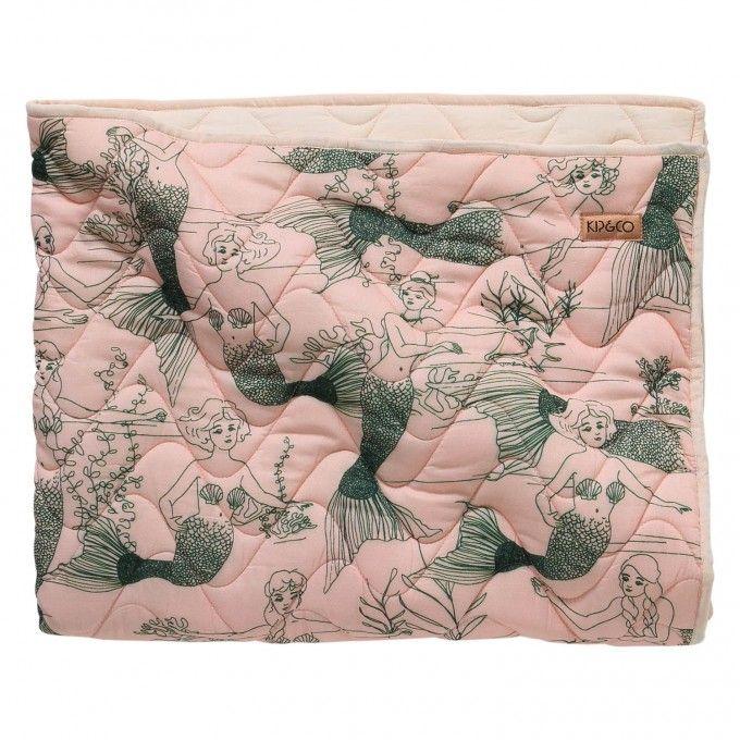 Mermaids Quilted Cot Bedspread Comforter Baby