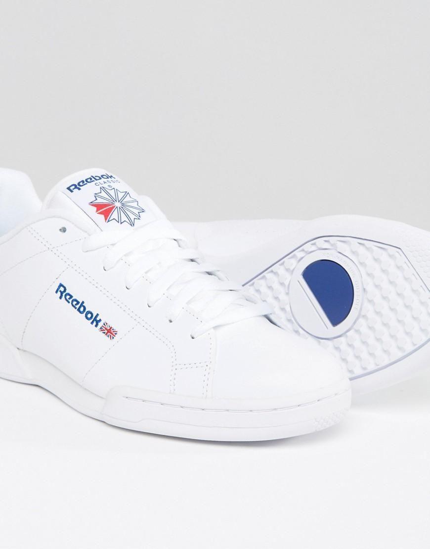 Mens Shoes Reebok NPC II White White 1354   Pro