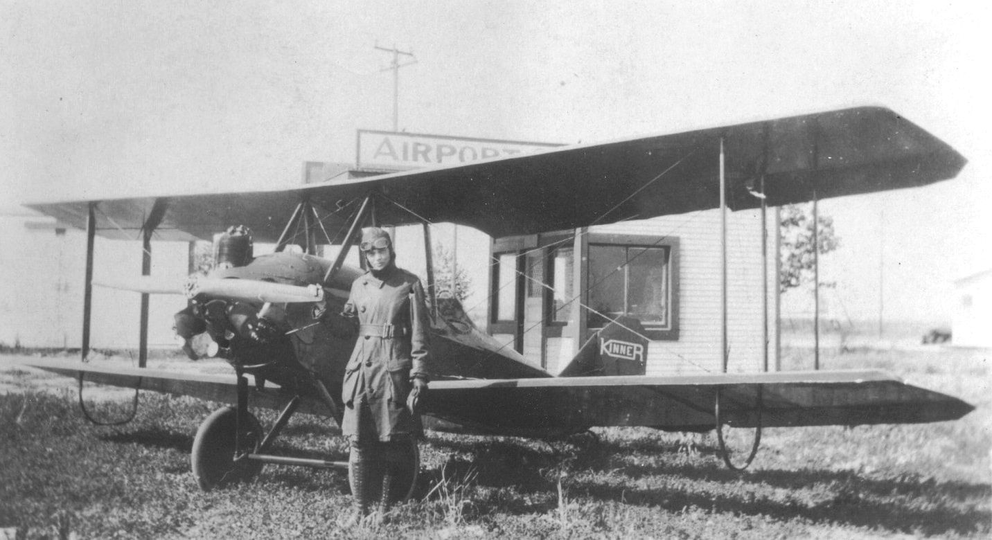 Amelia Earhart With Her First Plane A Kinner Airster Open