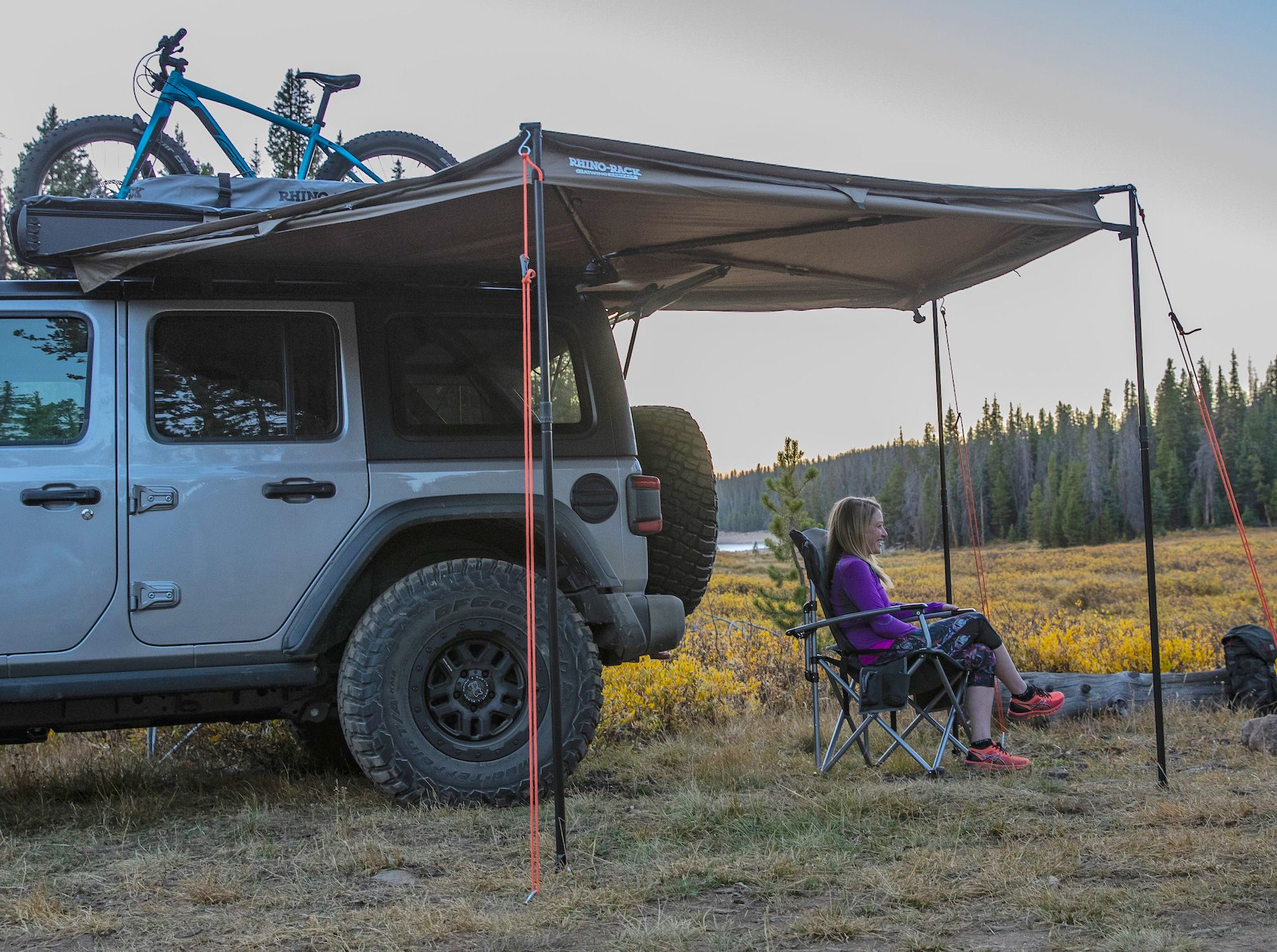 Rhino Rack Has A Wraparound Awning For Your Mid Size Adventuremobile Car Awnings Small Cars Jeep Wrangler Unlimited