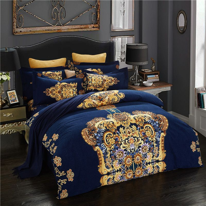 Cotton King Queen Size Duvet Cover Bed, King Queen Bed Set