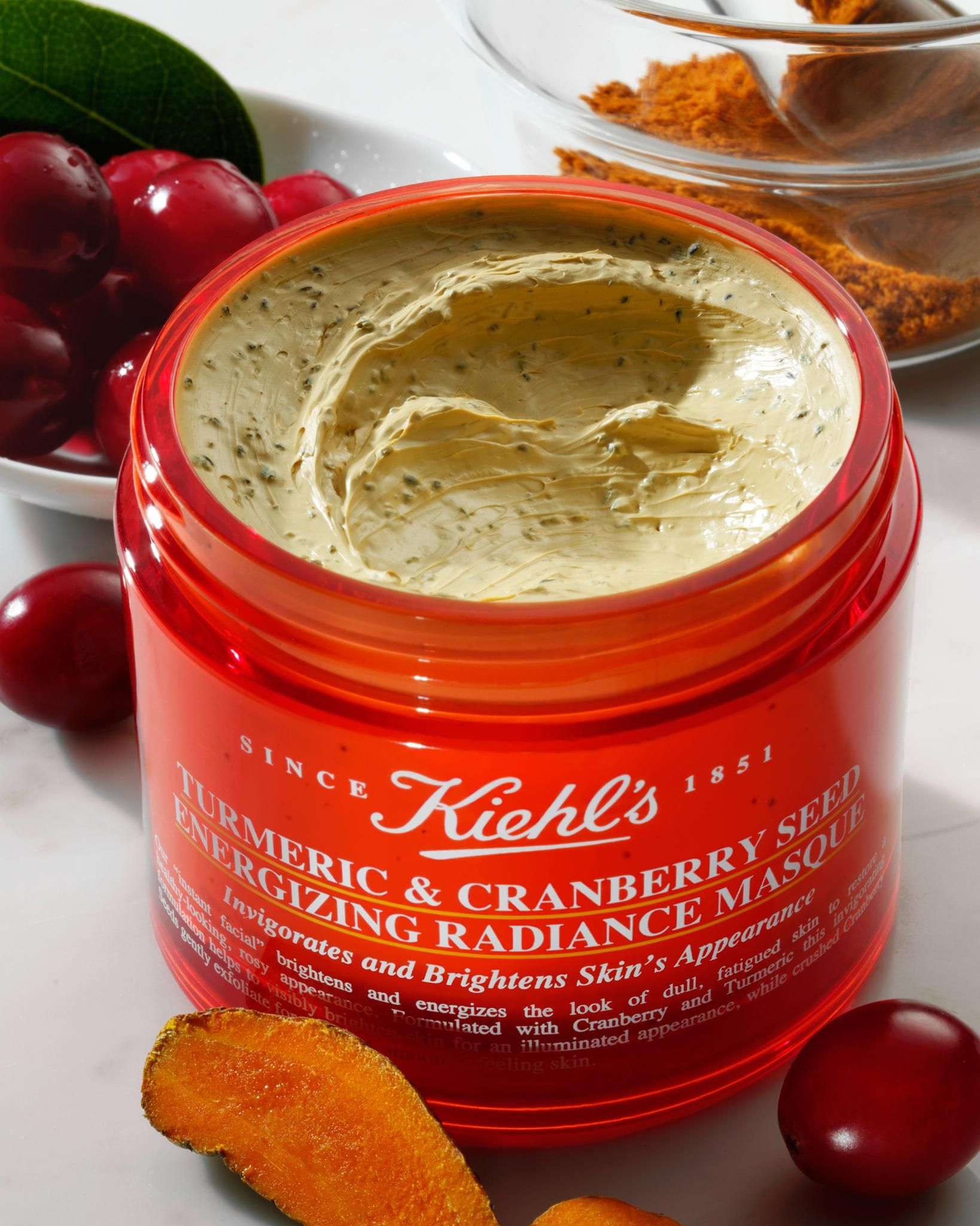 Choose a winter face mask to uncover a glowing complexion in just one swipe! Our Turmeric & Cranberry Seed Energizing Radiance Mask instantly brightens fatigued skin with powerful ingredients like micronized cranberry seeds and turmeric, both rich in antioxidants.